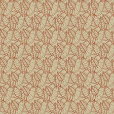 Red Botanical Drapery and Upholstery Fabric by Groundworks