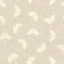 Ivory Botanical Drapery and Upholstery Fabric by Groundworks