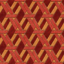 Red/Orange Contemporary Drapery and Upholstery Fabric by Groundworks