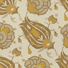 Grey/Bronze Ethnic Drapery and Upholstery Fabric by Groundworks