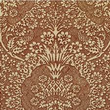 Chocolate Botanical Drapery and Upholstery Fabric by Groundworks
