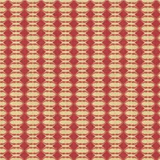 Cerise Geometric Drapery and Upholstery Fabric by Groundworks