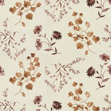 Mauve Botanical Drapery and Upholstery Fabric by Groundworks