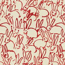 Red Animal Drapery and Upholstery Fabric by Groundworks