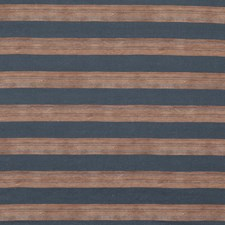 Sienna/Navy Stripes Drapery and Upholstery Fabric by Groundworks