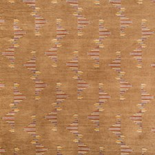 Copper Geometric Drapery and Upholstery Fabric by Groundworks
