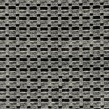 Onyx/Ivory Modern Drapery and Upholstery Fabric by Groundworks