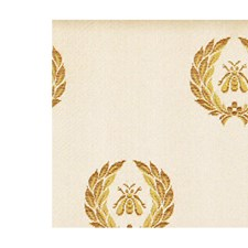 Gold/Creme Drapery and Upholstery Fabric by Scalamandre