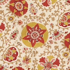 Orange/Beige Print Drapery and Upholstery Fabric by Kravet