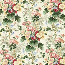 White/Coral Print Drapery and Upholstery Fabric by Lee Jofa