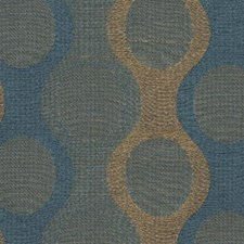 French Blue Drapery and Upholstery Fabric by RM Coco