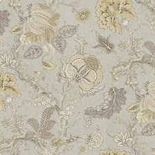 Beige/Grey/Lavender Print Drapery and Upholstery Fabric by Kravet