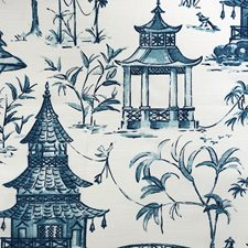 Blue/White Traditional Drapery and Upholstery Fabric by JF