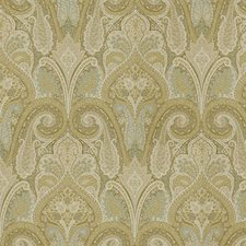 Beige/Light Blue/White Paisley Drapery and Upholstery Fabric by Kravet