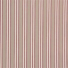 Crimson Stripes Drapery and Upholstery Fabric by Laura Ashley