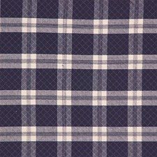Indigo Plaid Drapery and Upholstery Fabric by Laura Ashley