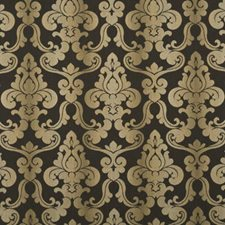 Chocolate Damask Drapery and Upholstery Fabric by Baker Lifestyle