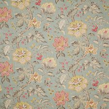 Aqua Traditional Drapery and Upholstery Fabric by Pindler