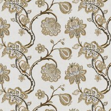 Brown/Yellow/Gold Traditional Drapery and Upholstery Fabric by JF