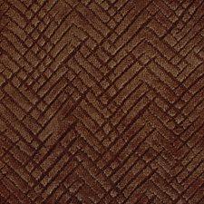 Rust/Brown Herringbone Drapery and Upholstery Fabric by Kravet