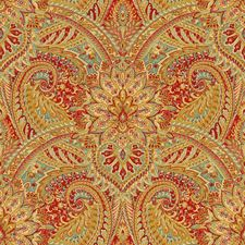 Beige/Burgundy/Red Paisley Drapery and Upholstery Fabric by Kravet