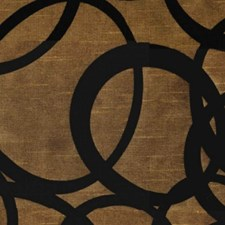 Copper/Black Drapery and Upholstery Fabric by RM Coco