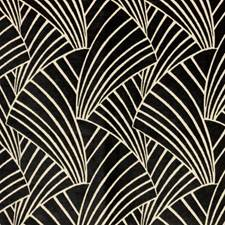 Black Linen Drapery and Upholstery Fabric by RM Coco