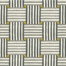 Slate Geometric Drapery and Upholstery Fabric by Kravet