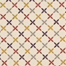 Red Lattice Drapery and Upholstery Fabric by Baker Lifestyle