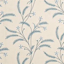 Blue Embroidery Drapery and Upholstery Fabric by Baker Lifestyle