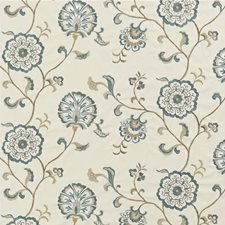 Delft/Taupe/Stone Embroidery Drapery and Upholstery Fabric by Baker Lifestyle