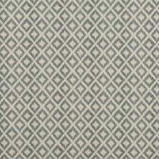 Aqua Print Drapery and Upholstery Fabric by Baker Lifestyle