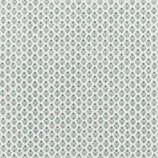 Soft Blue Print Drapery and Upholstery Fabric by Baker Lifestyle