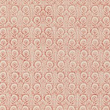 Rustic Red Print Drapery and Upholstery Fabric by Baker Lifestyle