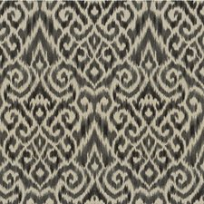 Black/Ivory Ikat Drapery and Upholstery Fabric by Kravet