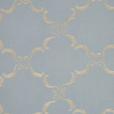 Ant. Blue/Beige Drapery and Upholstery Fabric by RM Coco