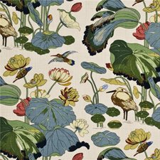 Stone/Pistachio Print Drapery and Upholstery Fabric by G P & J Baker
