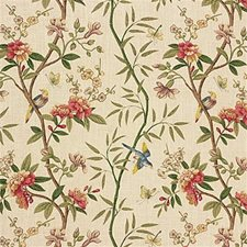 Sage/Beige Botanical Drapery and Upholstery Fabric by G P & J Baker