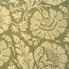 Aqua Print Drapery and Upholstery Fabric by G P & J Baker