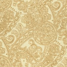 Beige/Brown Paisley Drapery and Upholstery Fabric by Kravet