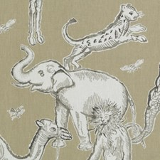 Jute Animal Drapery and Upholstery Fabric by Duralee