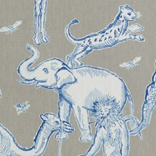 Azure Animal Drapery and Upholstery Fabric by Duralee