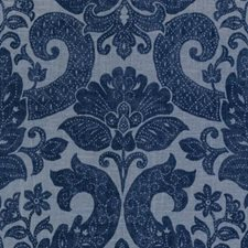 Denim Damask Drapery and Upholstery Fabric by Duralee