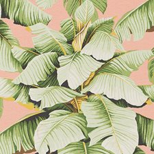 Pink/Green Botanical Drapery and Upholstery Fabric by Duralee