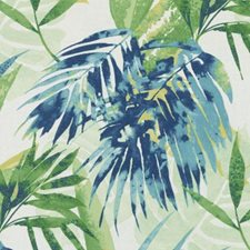 Blue/Green Botanical Drapery and Upholstery Fabric by Duralee