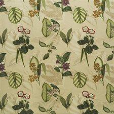 Beige/Green/Burgundy Botanical Drapery and Upholstery Fabric by Kravet