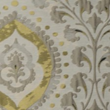 Grey Gold Drapery and Upholstery Fabric by RM Coco