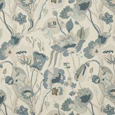 Linen/Denim Print Drapery and Upholstery Fabric by G P & J Baker