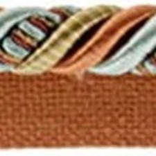 Cord With Lip Light Blue/Rust/Gold Trim by Kravet