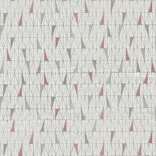 Pink/Green Geometric Drapery and Upholstery Fabric by JF